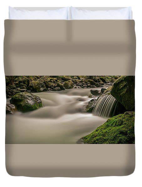 Iao Stream In The Iao Valley State Park Duvet Cover