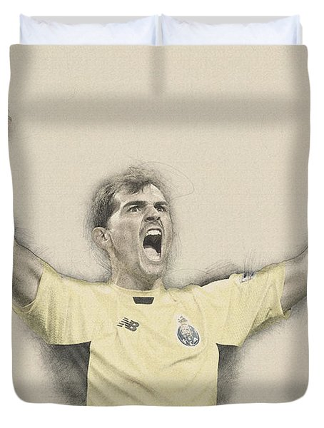 Iker Casillas  Duvet Cover by Don Kuing
