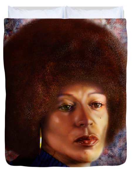 Impassable Me - Angela Davis1 Duvet Cover by Reggie Duffie