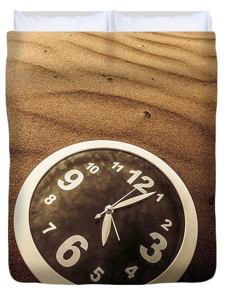 In Waves Of Lost Time Duvet Cover
