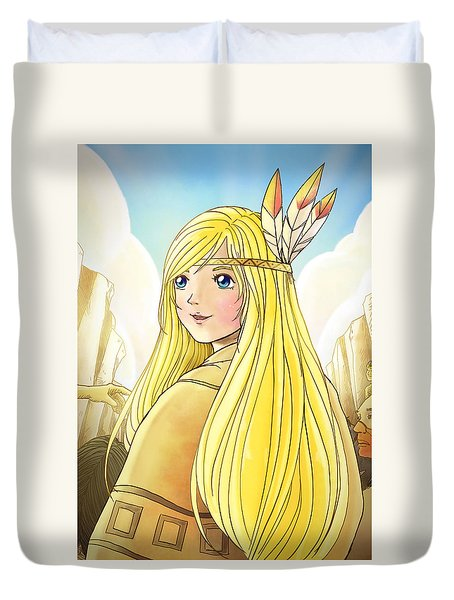 Indian Princess Tammy Duvet Cover