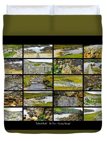 ' Ireland Rocks ' Series An Port - County Donegal Duvet Cover