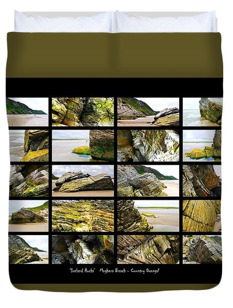 ' Ireland Rocks ' Series  - Maghera Beach - Country Donegal Duvet Cover
