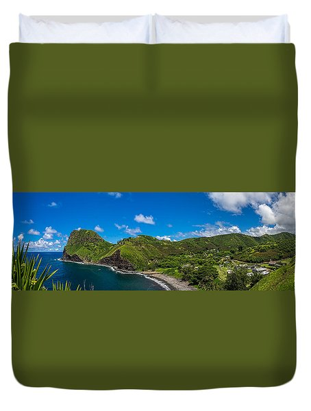 Kahakuloa Head Maui Hawaii Duvet Cover