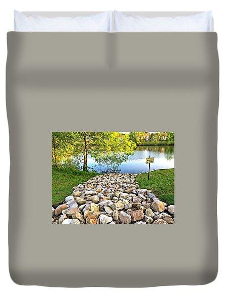 Keep Off The Rocks - No.430 Duvet Cover