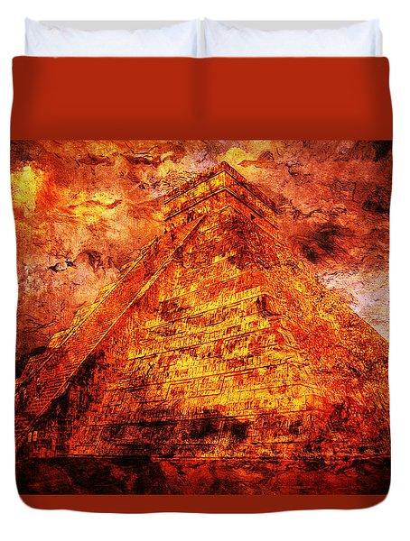 Kukulcan Pyramid Duvet Cover