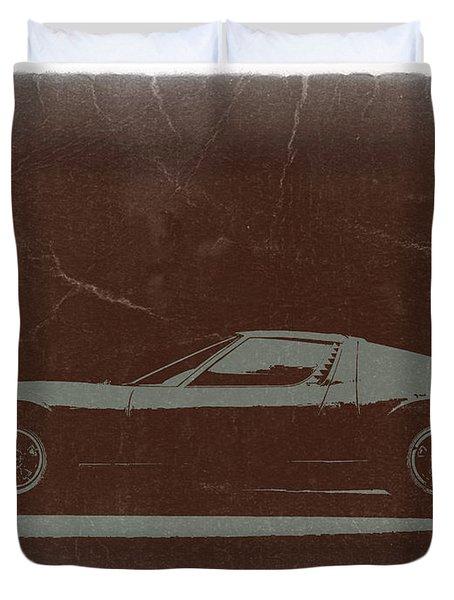 Lamborghini Miura Duvet Cover
