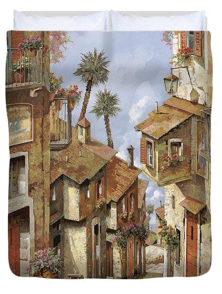 Le Palme Sul Tetto Duvet Cover