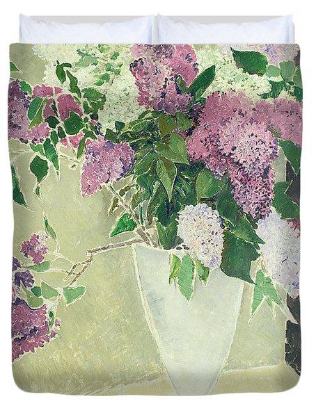 Lilacs Duvet Cover by Glyn Warren Philpot