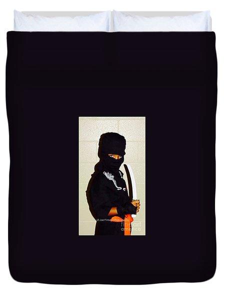 Duvet Cover featuring the photograph  Little Ninja - No.1998 by Joe Finney
