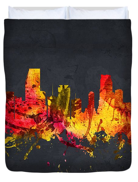 Miami Cityscape 07 Duvet Cover by Aged Pixel