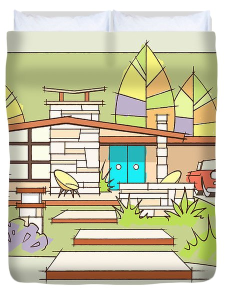 Mid-century Home, T-bird Duvet Cover