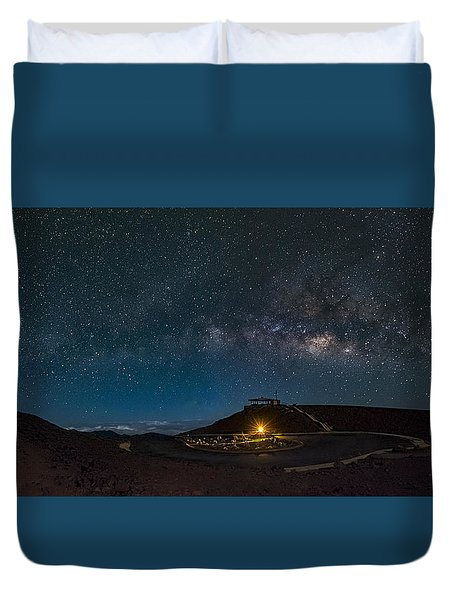 Milky Way Over Haleakala Duvet Cover