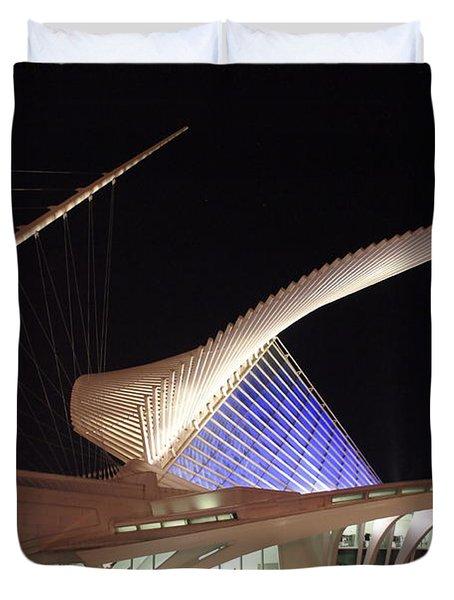 Milwaukee Art Museum Night View Duvet Cover