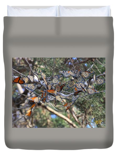 Monarch Mixed Cluster Duvet Cover
