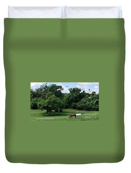Mr. And Mrs. Horse - No. 195 Duvet Cover