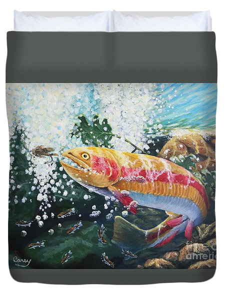Not Your Average Goldfish Duvet Cover