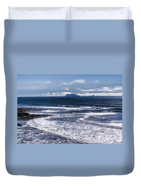 Duvet Cover featuring the photograph  Point Loma And Islos Los Coronados by Daniel Hebard
