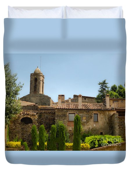 Duvet Cover featuring the photograph  Pubol Spain by Gregory Dyer