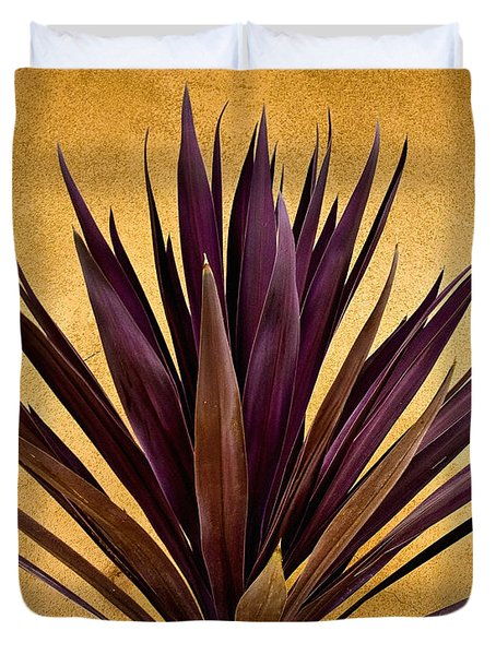 Purple Giant Dracaena Santa Fe Duvet Cover by John Hansen