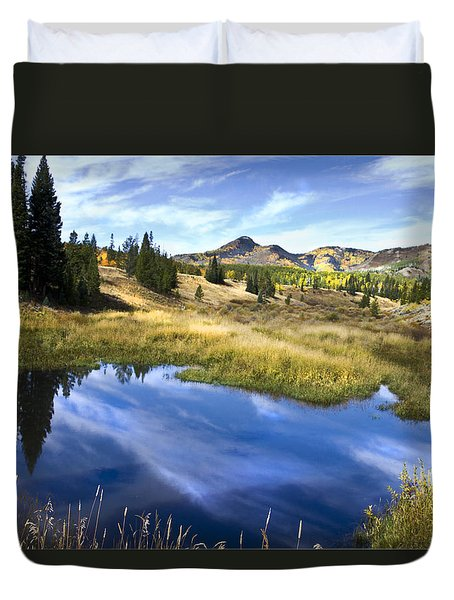 Duvet Cover featuring the photograph  Road To Steamboat Lake by John Hix