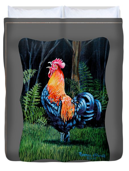 Rooster Crow A Welsummer Rooster  Duvet Cover