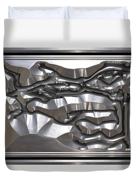 ' Light Rays Through Dark Passages ' Duvet Cover