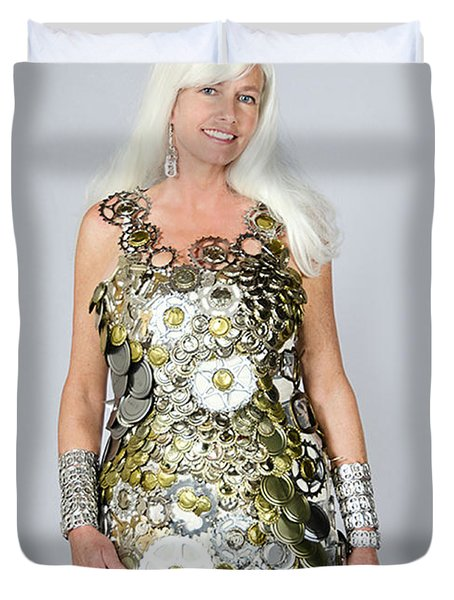 Sara In Clockwork Dragon Dress  Duvet Cover