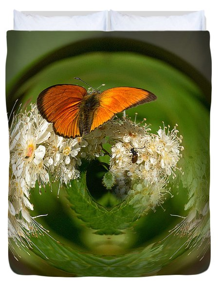 Duvet Cover featuring the photograph  Scarce Copper 3 by Jouko Lehto