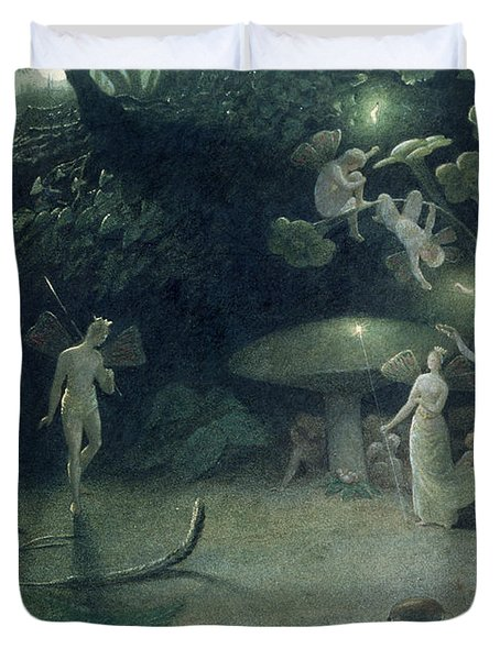 Scene From 'a Midsummer Night's Dream Duvet Cover by Francis Danby