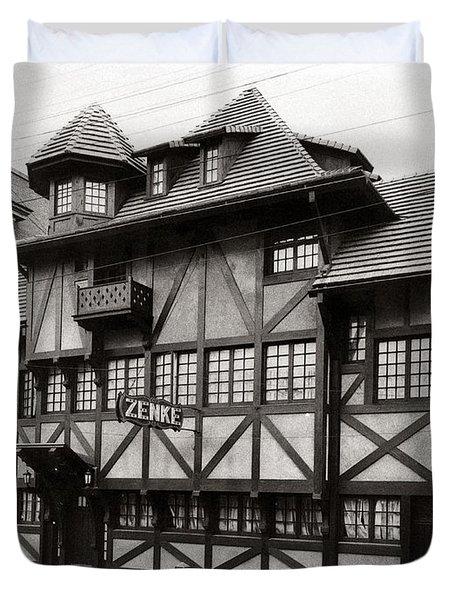 Scranton Pa Zenke's Alt Heidelberg Restaurant Early 1900s Duvet Cover