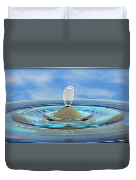 ' Sea Creature Descends ' - Digital Art Format Duvet Cover