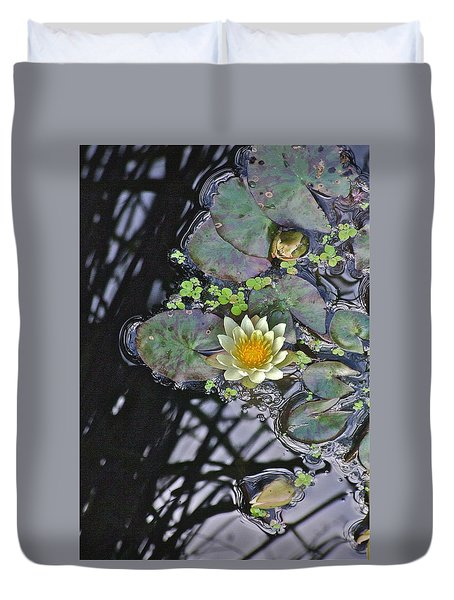 September White Water Lily Duvet Cover