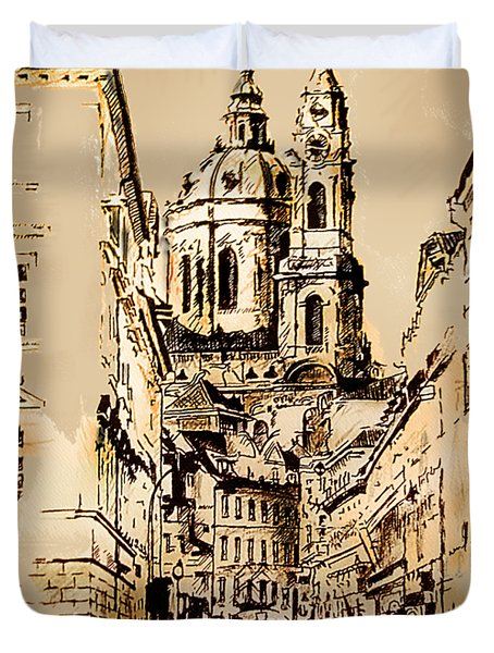 St. Nicholas Church In Prague Duvet Cover
