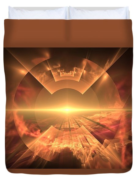 Supernova  Duvet Cover by Svetlana Nikolova