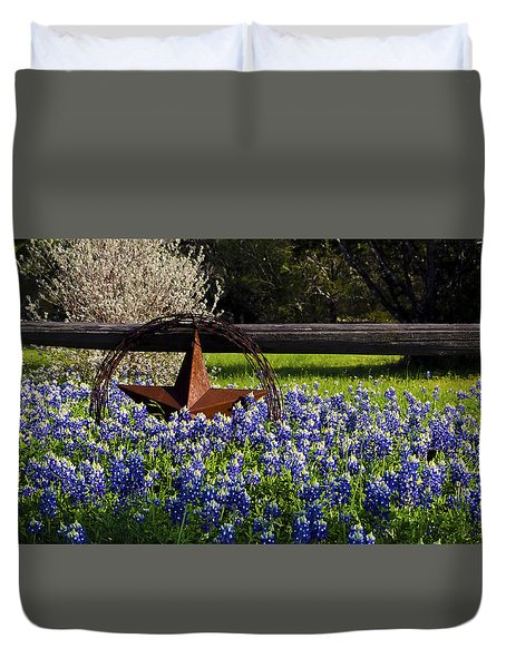 Texas Bluebonnets IIi Duvet Cover