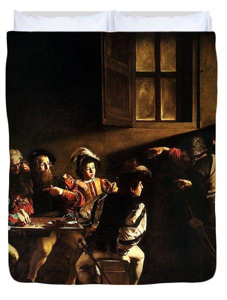 The Calling Of Saint Matthew Duvet Cover