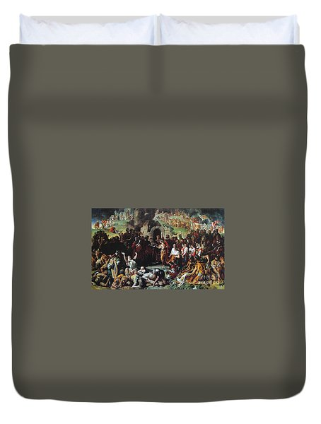 The Marriage Of Strongbow And Aoife Duvet Cover