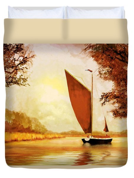The Wherry Albion Duvet Cover by Valerie Anne Kelly