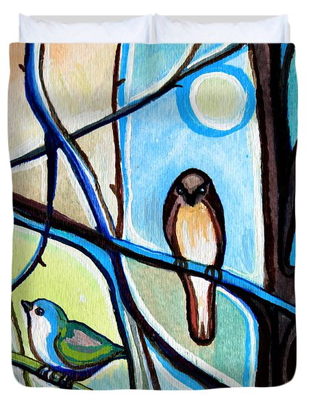 Three Birds Duvet Cover