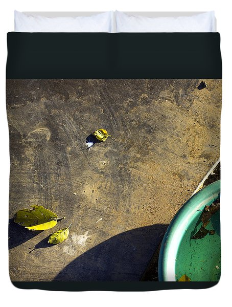 Duvet Cover featuring the photograph  Three Is Family by Prakash Ghai