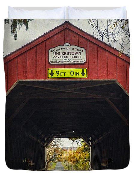 Uhlerstown Covered Bridge Iv Duvet Cover