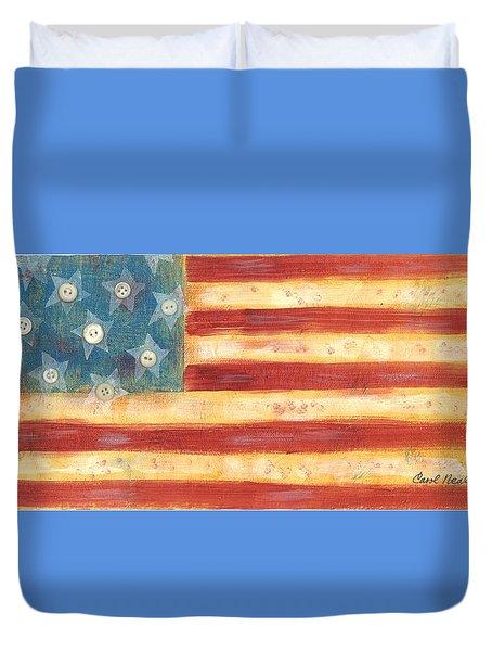 U.s. Flag Vintage Duvet Cover