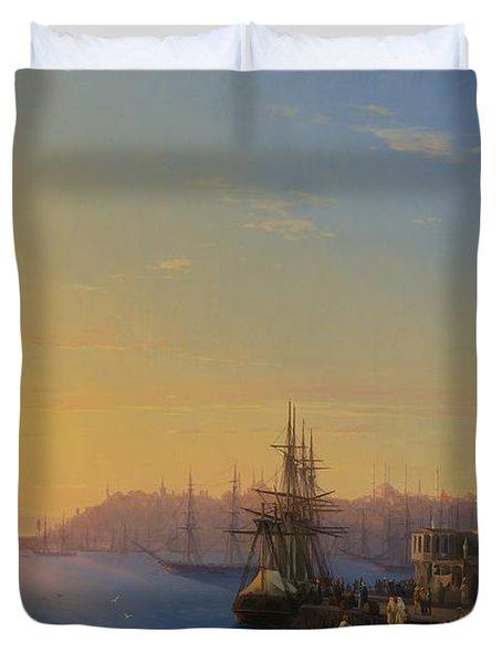 View Of Constantinople And The Bosphorus Duvet Cover