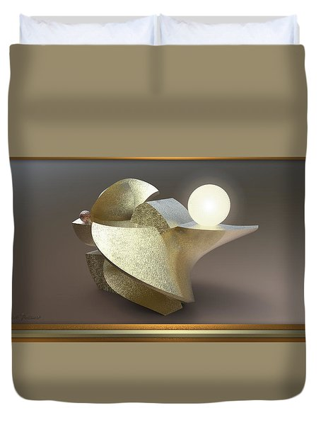' Wavy Cut Sculpture Light ' Duvet Cover