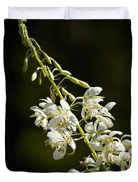 Duvet Cover featuring the photograph  White Fireweed by Jouko Lehto