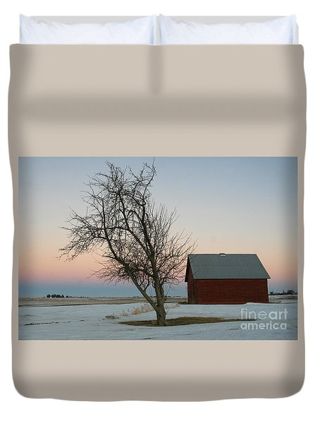 Winter In Rural America Duvet Cover