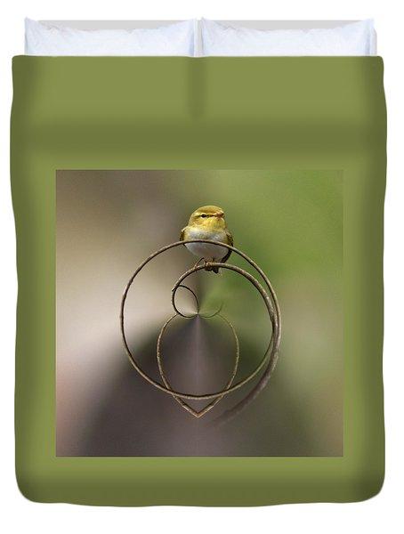 Wood Warbler Duvet Cover