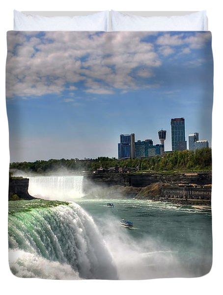 004 Niagara Falls  Duvet Cover by Michael Frank Jr