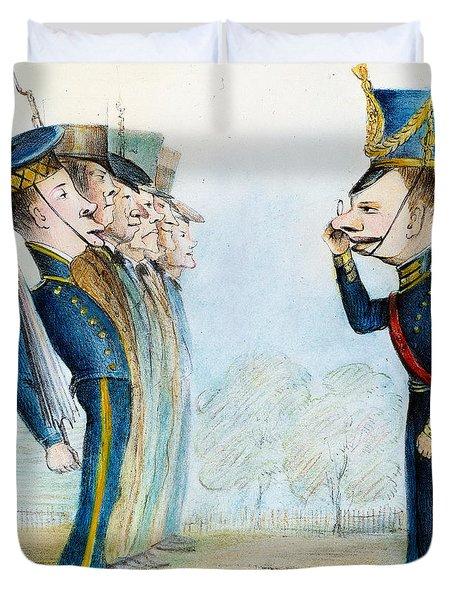 Cartoon: Mexican War, 1846 Duvet Cover by Granger